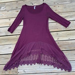 Plum colored lace tunic